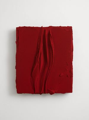 Untitled (Permanent red) by Jason Martin contemporary artwork