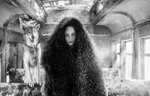 The Girl Who Cried Wolf by David Yarrow contemporary artwork