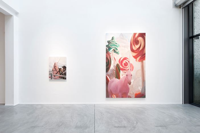 Exhibition view: Will Cotton, The Taming of the Cowboy, Templon, Brussels (28 May–31 July 2020). Courtesy Templon.