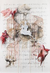 Ascent-Descent by Shahzia Sikander contemporary artwork works on paper