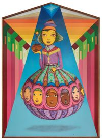 The sunset by OSGEMEOS contemporary artwork mixed media