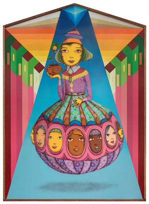 The sunset by OSGEMEOS contemporary artwork