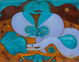 Helena Muraena II by Sofia Mitsola contemporary artwork painting