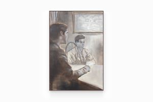 Men at Dinner Table by Henry Shum contemporary artwork