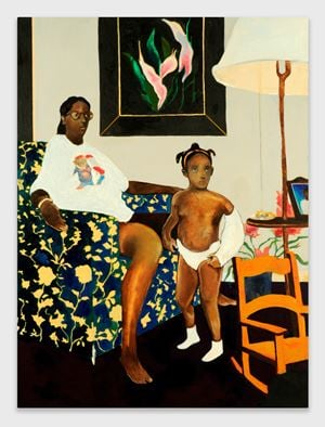 Single Mother with Father Out of the Picture by Noah Davis contemporary artwork