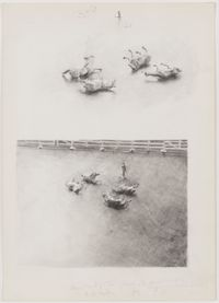 Horse Hunting: the Game by Michaël Borremans contemporary artwork painting, works on paper, drawing