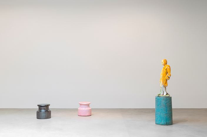 Exhibition view: Johan Creten, 8 Gods, Almine Rech Gallery, Brussels (9 March–8 April). Courtesy of the Artist and Almine Rech Gallery. © Johan Creten.