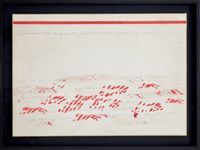 (untitled) pantere by Alighiero Boetti contemporary artwork works on paper