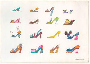 Saw Heel + 15 by Barbara Nessim contemporary artwork