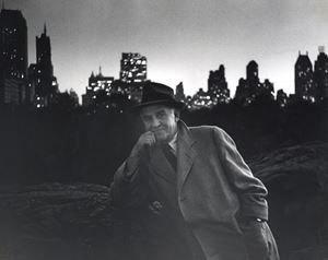 Walter Winchell, Central Park, New York City by Louis Faurer contemporary artwork