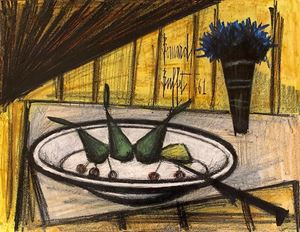 Assiette de fruits by Bernard Buffet contemporary artwork