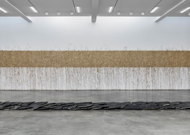 Exhibition view: Richard Long, FROM A ROLLING STONE TO NOW, Lisson Gallery, West 24th Street, New York (6 March–18 April 2020). © Richard Long. Courtesy Lisson Gallery.
