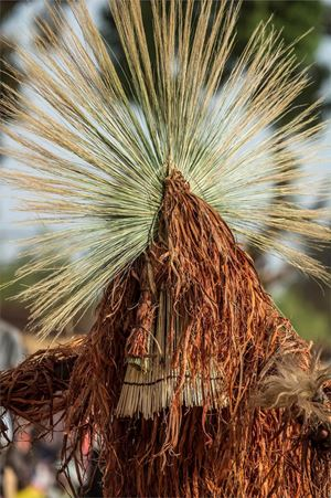 Fibre and Millet Stalk Mask, Burkina Faso by Carol Beckwith & Angela Fisher contemporary artwork