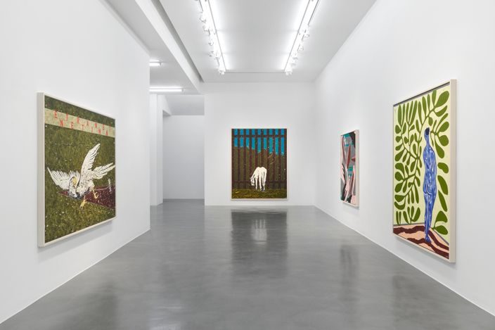 Exhibition view: Werner Büttner, No Scene from My Studio,Simon Lee Gallery, London (13 May–10 June 2021). Courtesy Simon Lee Gallery.