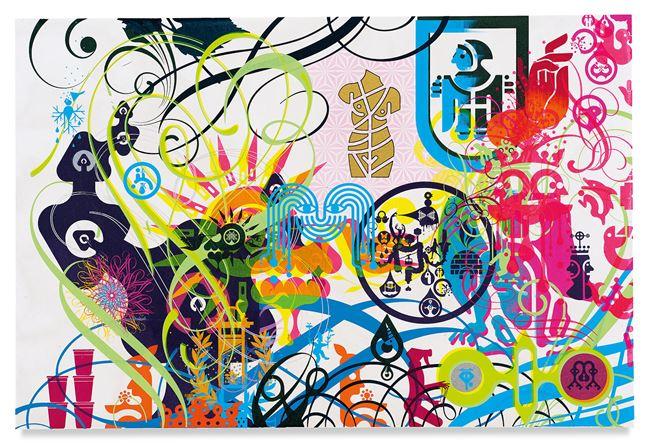 Mindscape 34 by Ryan McGinness contemporary artwork