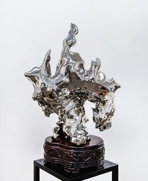Stainless Steel Garden Rock  ¼ (假山石 edn. 1/4) by Zhan Wang contemporary artwork