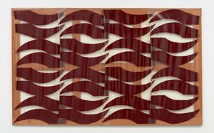 Grande Rosso Scuro by Carla Accardi contemporary artwork painting, works on paper