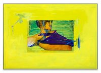 Yellow Hold, Portrait by Andro Wekua contemporary artwork painting