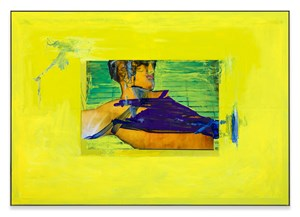 Yellow Hold, Portrait by Andro Wekua contemporary artwork