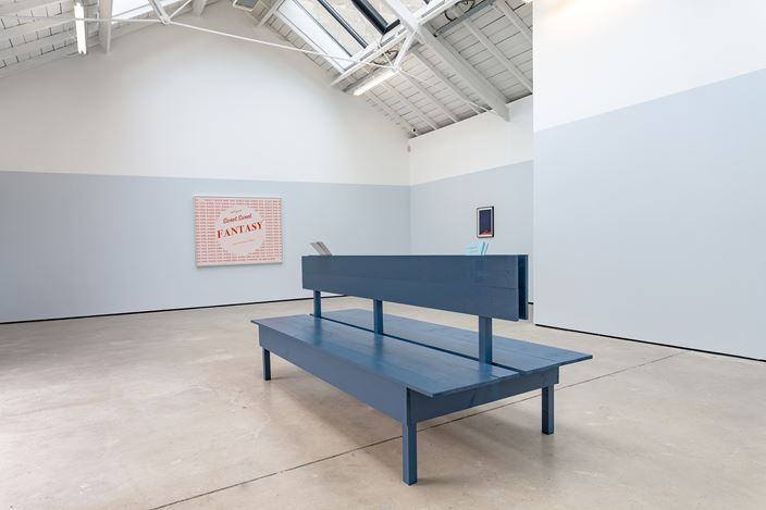 Exhibition view: Marc Hundley, In Another Country, The Modern Institute, Osborne Street, Glasgow (27 August–19 September 2020). Courtesy the Artist and The Modern Institute/Toby Webster Ltd, Glasgow. Photo: Patrick Jameson.