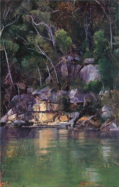 River Bank, Smiths Creek by A.J. Taylor contemporary artwork