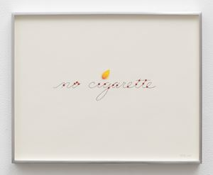 no cigarette (flame) by Linda Stark contemporary artwork