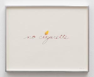 no cigarette (flame) by Linda Stark contemporary artwork