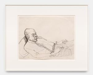 John Reclining by Alice Neel contemporary artwork works on paper, drawing