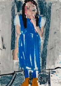 Pictures of What I Did Not See I by Chantal Joffe contemporary artwork painting, works on paper, drawing