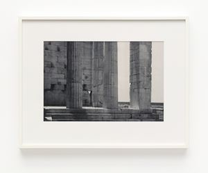 Propylaia. South pteron (wing) looking toward the Saronic Gulf by James Welling contemporary artwork