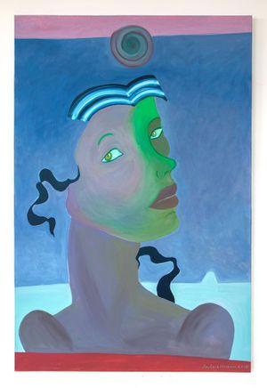 Blue Ribbon by Barbara Nessim contemporary artwork