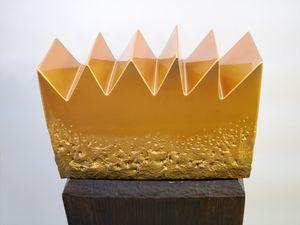 Golden Mountain by Heinz Mack contemporary artwork