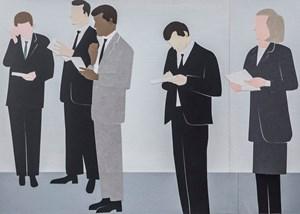 Secretaries collage by Gavin Hurley contemporary artwork