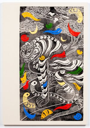 Spirals and Stripes by Kour Pour contemporary artwork