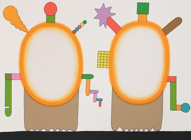 Oval, Oval, Circle, Square by Sadamasa Motonaga contemporary artwork
