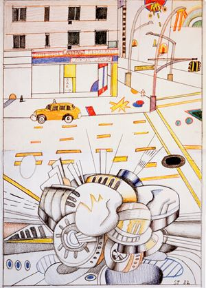 Union Square by Saul Steinberg contemporary artwork