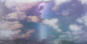 Unkai (Sea of Clouds) Silver 4.8 by Miya Ando contemporary artwork