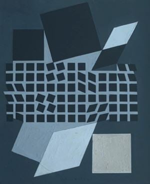 Composition by Victor Vasarely contemporary artwork