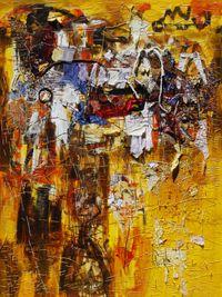 Moksa by Gatot Pujiarto contemporary artwork painting, mixed media