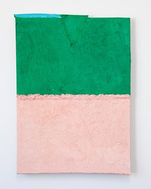 Untitled (pink and green) by Louise Gresswell contemporary artwork