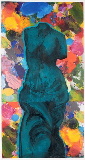 Dark Blue Cloud by Jim Dine contemporary artwork