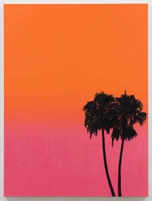 Palms at Deep Sunset by Alec Egan contemporary artwork