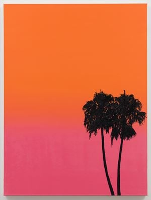 Palms at Deep Sunset by Alec Egan contemporary artwork painting