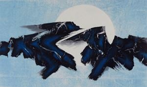 Sun and Moon: Floating? Sinking?  《日月浮沈》 by Liu Guosong contemporary artwork