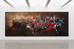The Victory of Denain by Georges Mathieu contemporary artwork painting
