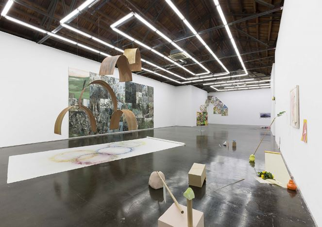 Exhibition view: Group exhibition,Scenographic Imagination, Beijing Commune, Beijing (20 July–6 September 2019). Courtesy the artists and Beijing Commune.
