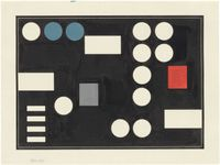 Composition à rectangles et cercles (Composition with rectangles and circles) by Sophie Taeuber-Arp contemporary artwork painting, works on paper