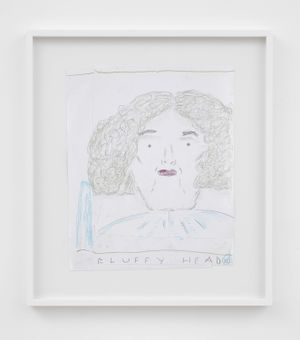 Fluffy Head by Rose Wylie contemporary artwork