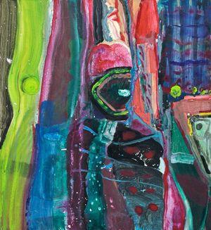 Still Life Composition(1): Vertical Portrait by Jhong Jiang-Ze contemporary artwork