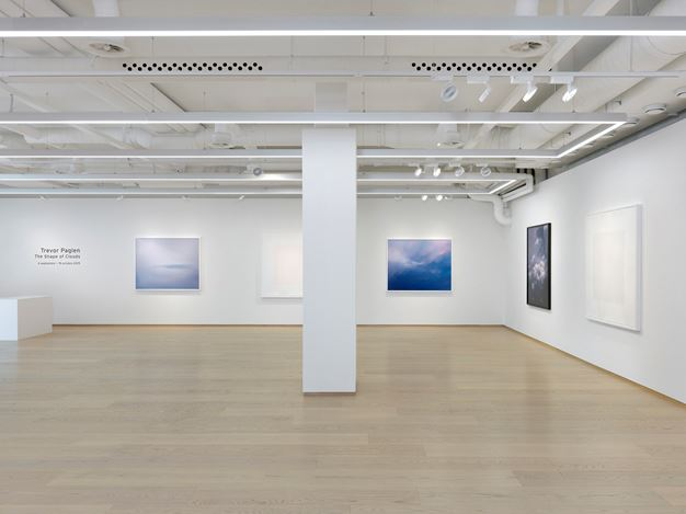 Exhibition view: Trevor Paglen, The Shape of Clouds, Pace Gallery, Geneva (4 September–24 October 2019). Courtesy Pace Gallery.
